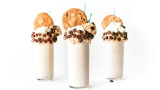 Edible Chocolate Chip Cookie Dough Milkshake