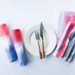DIY Red, White, and Blue Dip-Dyed or Painted Napkins