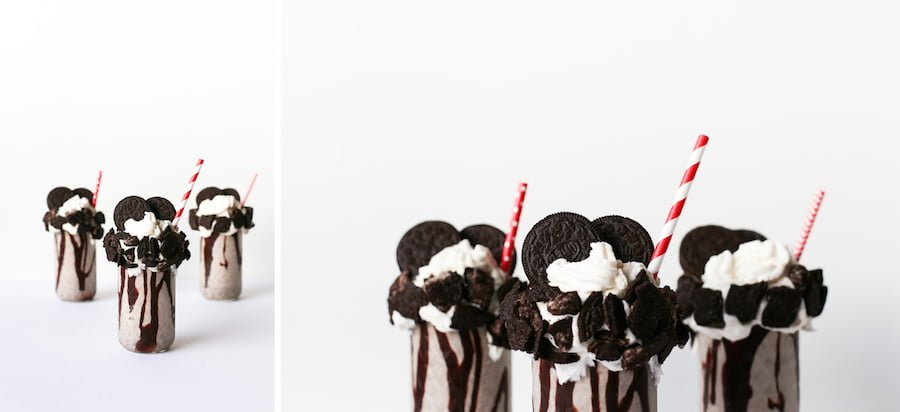 Oreo Cookie Milkshake, Milkshakes, Over-the-Top Freakshake, How do You Make an Oreo Milkshake, Cookies and Cream Milkshake, Recipe, Double Stuffed, Salty Canary
