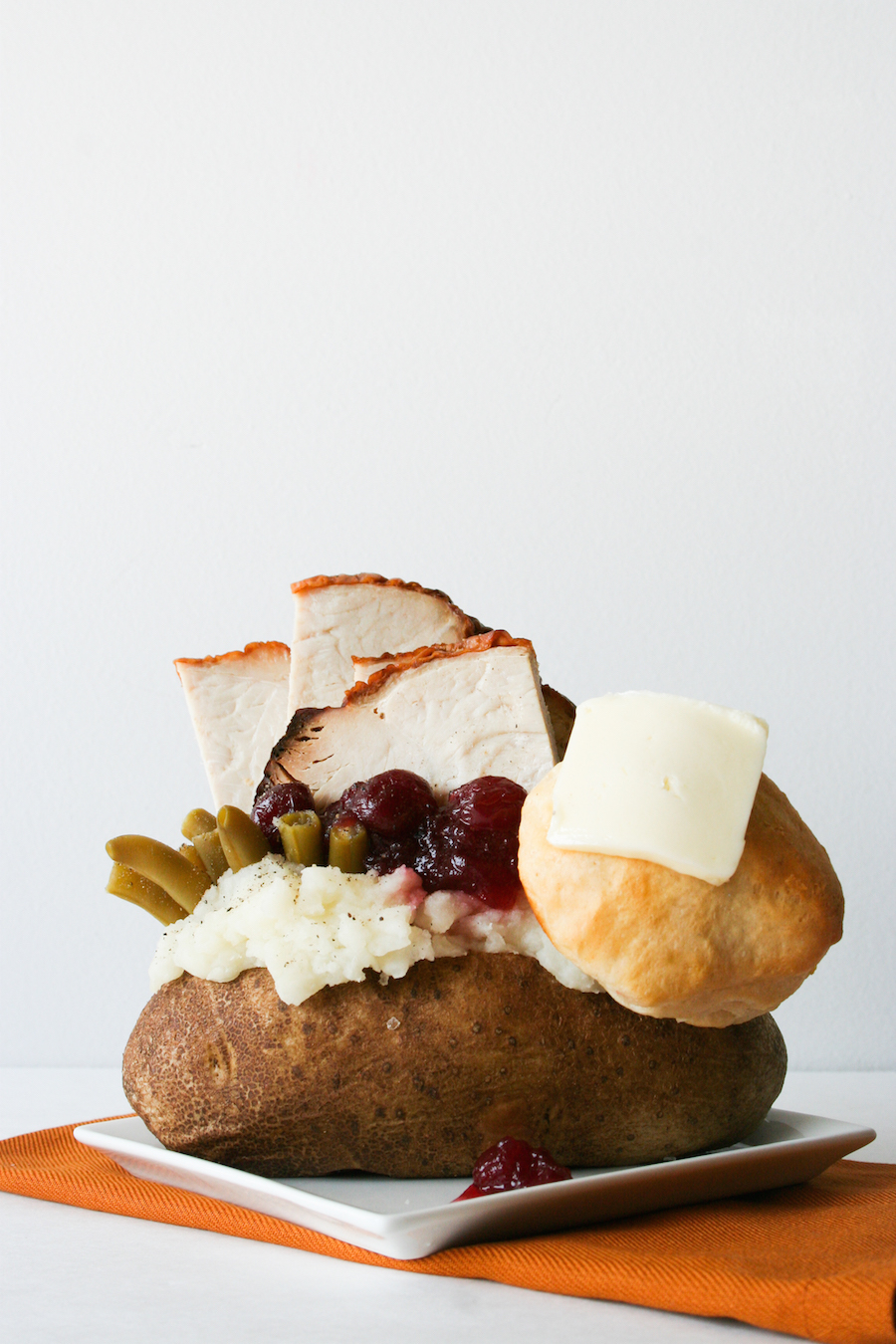 Outrageously Overstuffed Baked Potatoes // Turkey Dinner