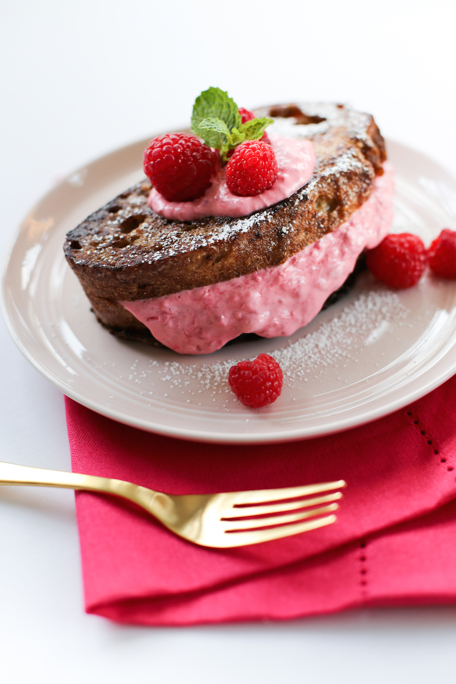 Raspberry Cream Cheese Stuffed French Toast // Overstock Farmers Market