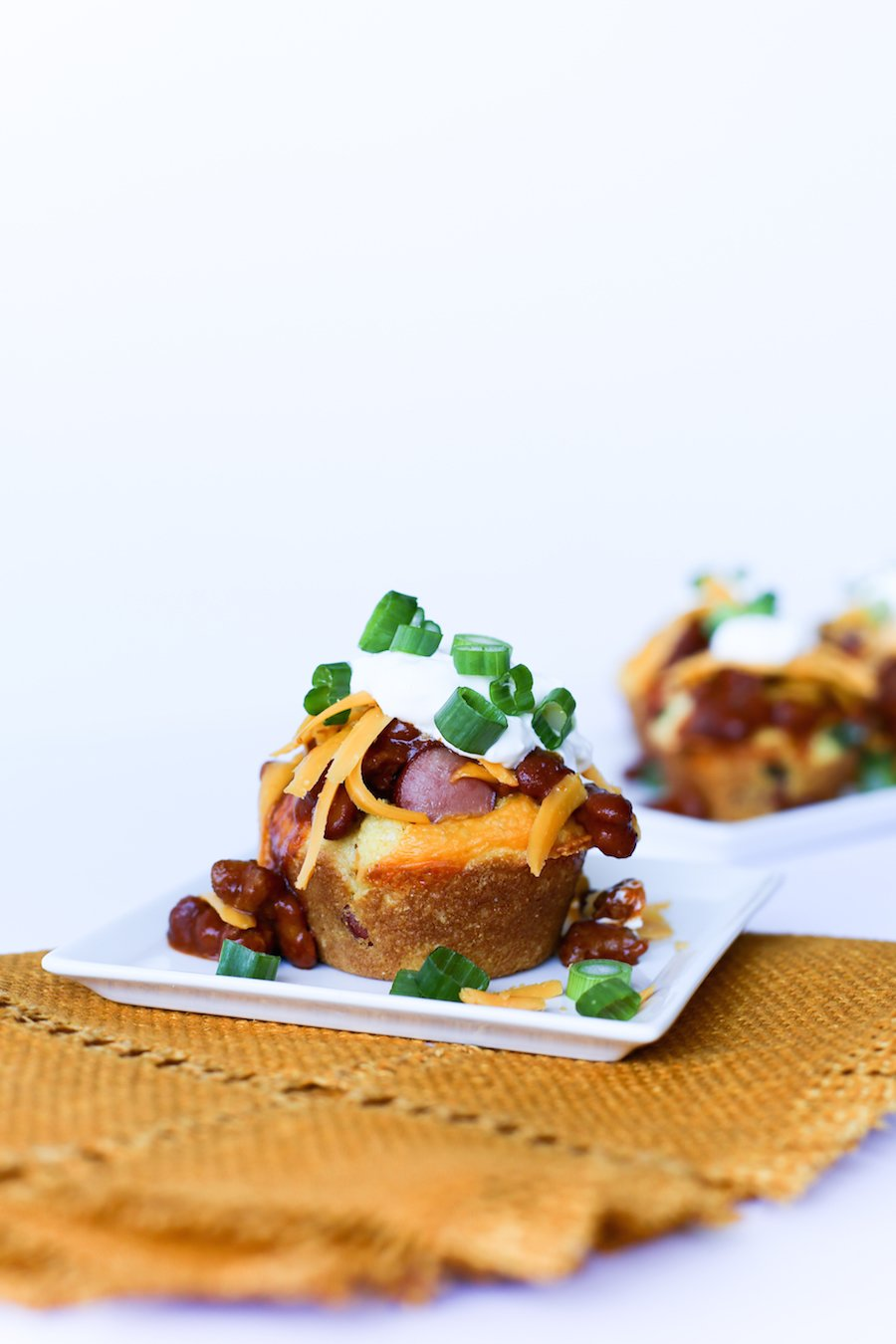 Chili Cheese Corn Dog Muffins // Salty Canary