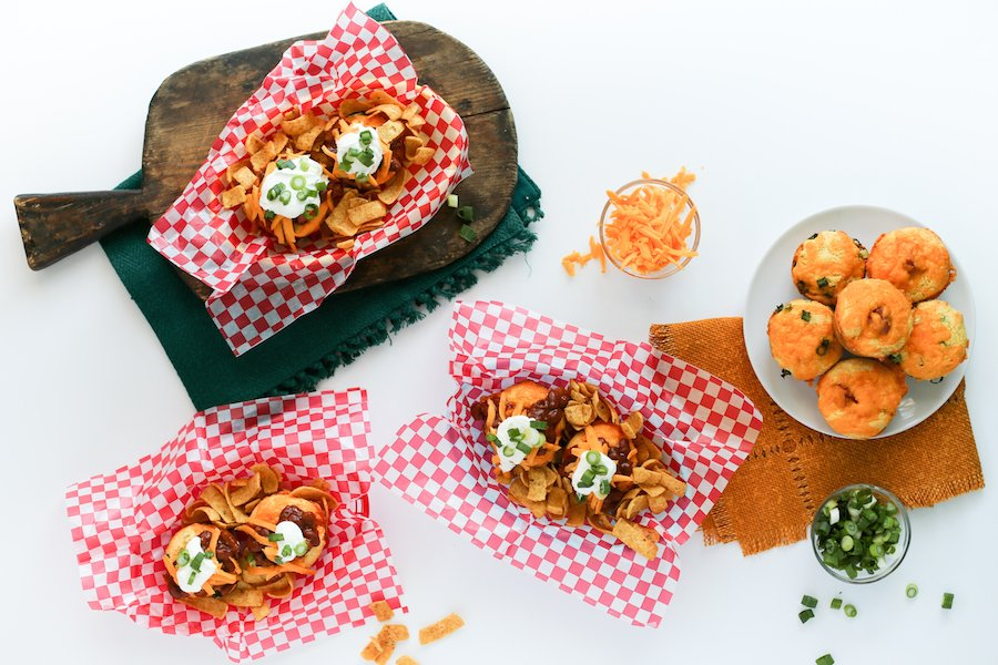 Chili Cheese Corn Dog Muffins // Salty Canary