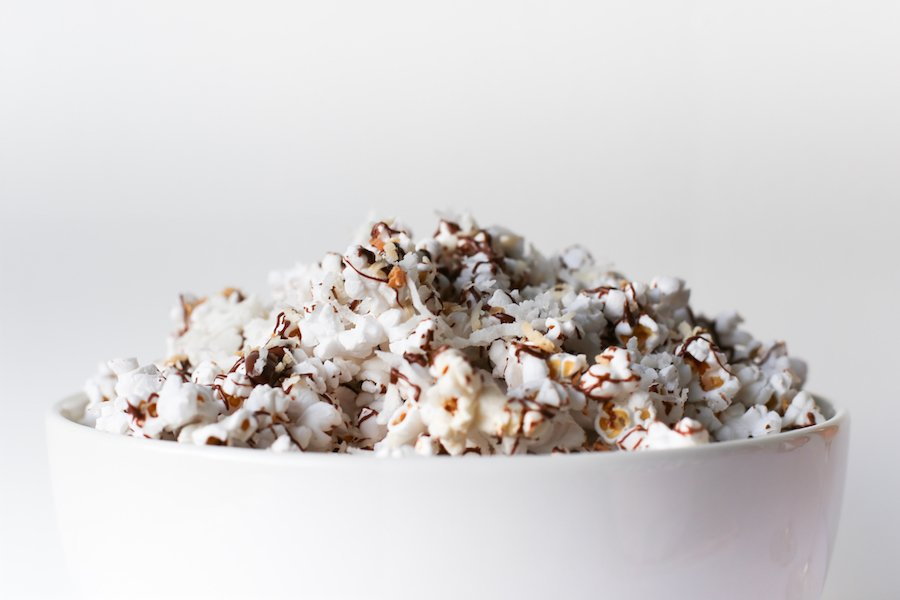 Chocolate Coconut Popcorn // Salty Canary