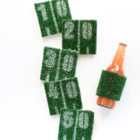 DIY Football Astroturf Yard Line Coasters // Salty Canary