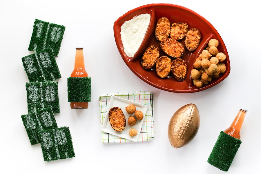 DIY Football Astroturf Yard Line Coasters // Salty Canary