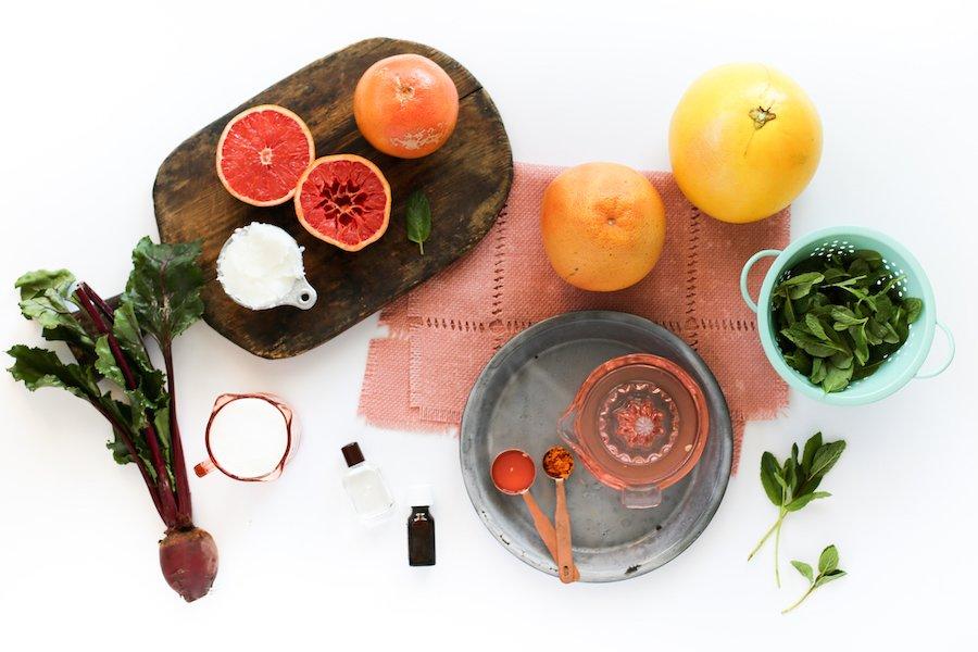Grapefruit Mint Sugar Scrub // Salty Canary