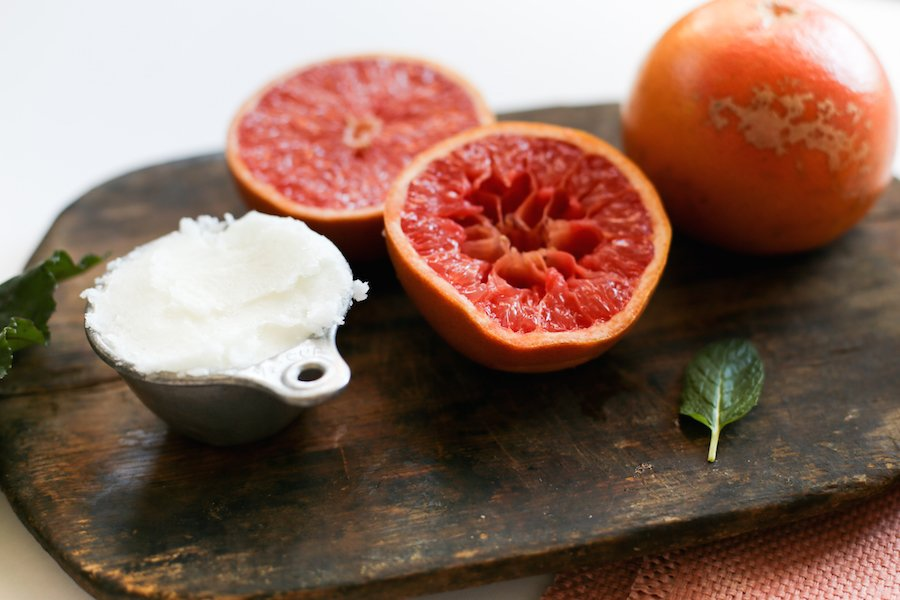 Grapefruit Mint Sugar Scrub // Salty Canary
