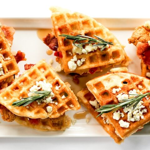 Savory Chicken and Waffle Sliders