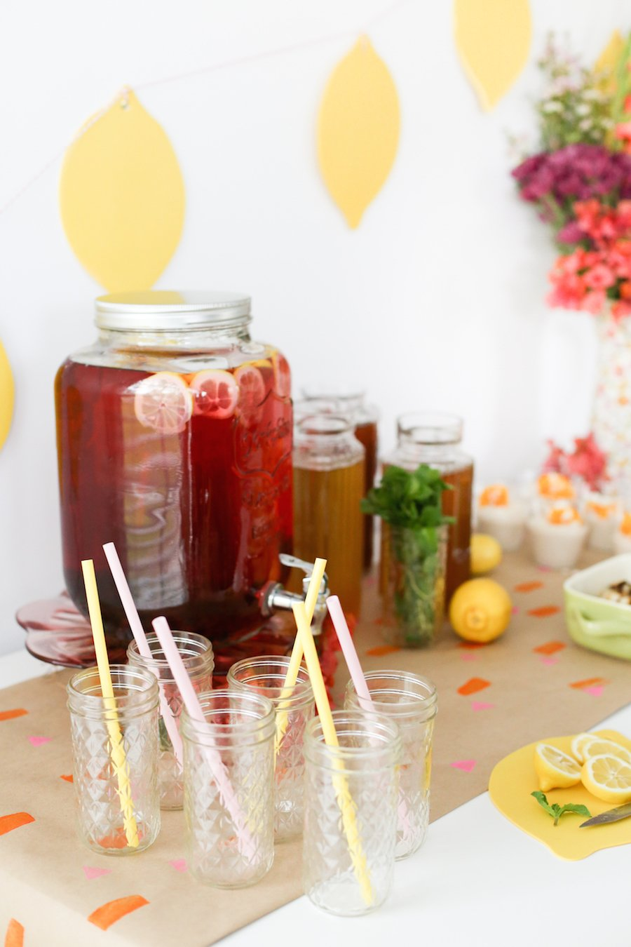 Southern Style Spring Brunch Iced Tea Party