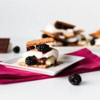Try this very adult, gourmet version of s'mores: Blackberry Brie S'mores // saltycanary.com