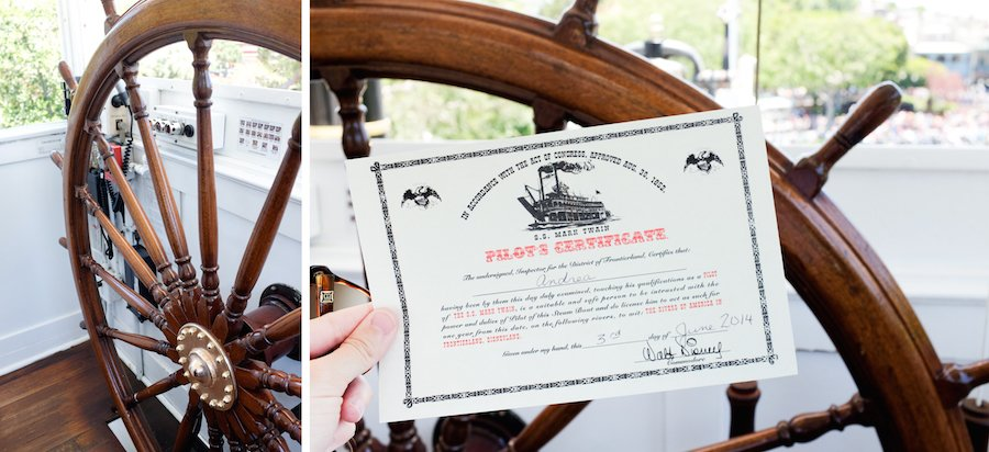 Steer the Mark Twain at Disneyland and get a free Pilot's License. Click through to find out how! // Salty Canary