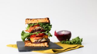 Celebrate Grilled Cheese Day with this Grilled Cheese Double Cheeseburger! // saltycanary.com