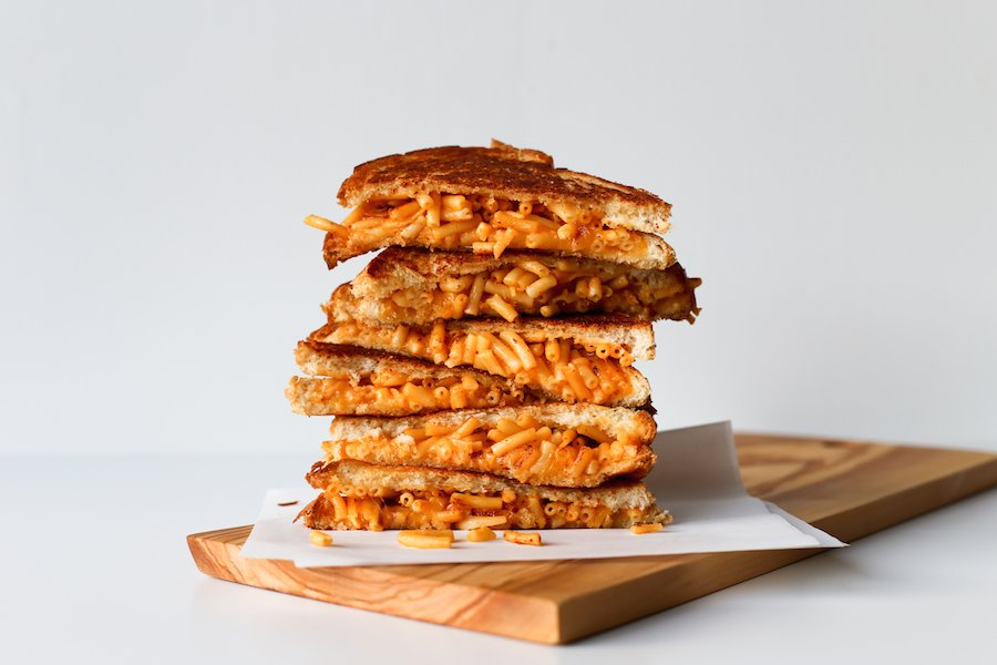 Mac And Cheese Grilled Cheese Sandwich // Salty Canary