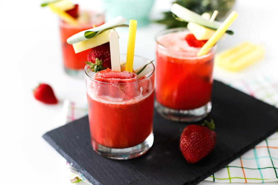 Strawberry Popsicle Mocktail Recipe // Salty Canary