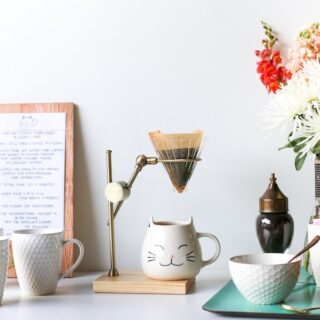 Set up a coffee station for your visiting friends and family so they feel right at home! // saltycanary.com