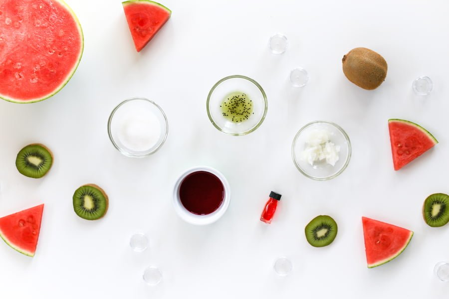 DIY Kiwi Watermelon Lip Sugar Scrub // Salty Canary
