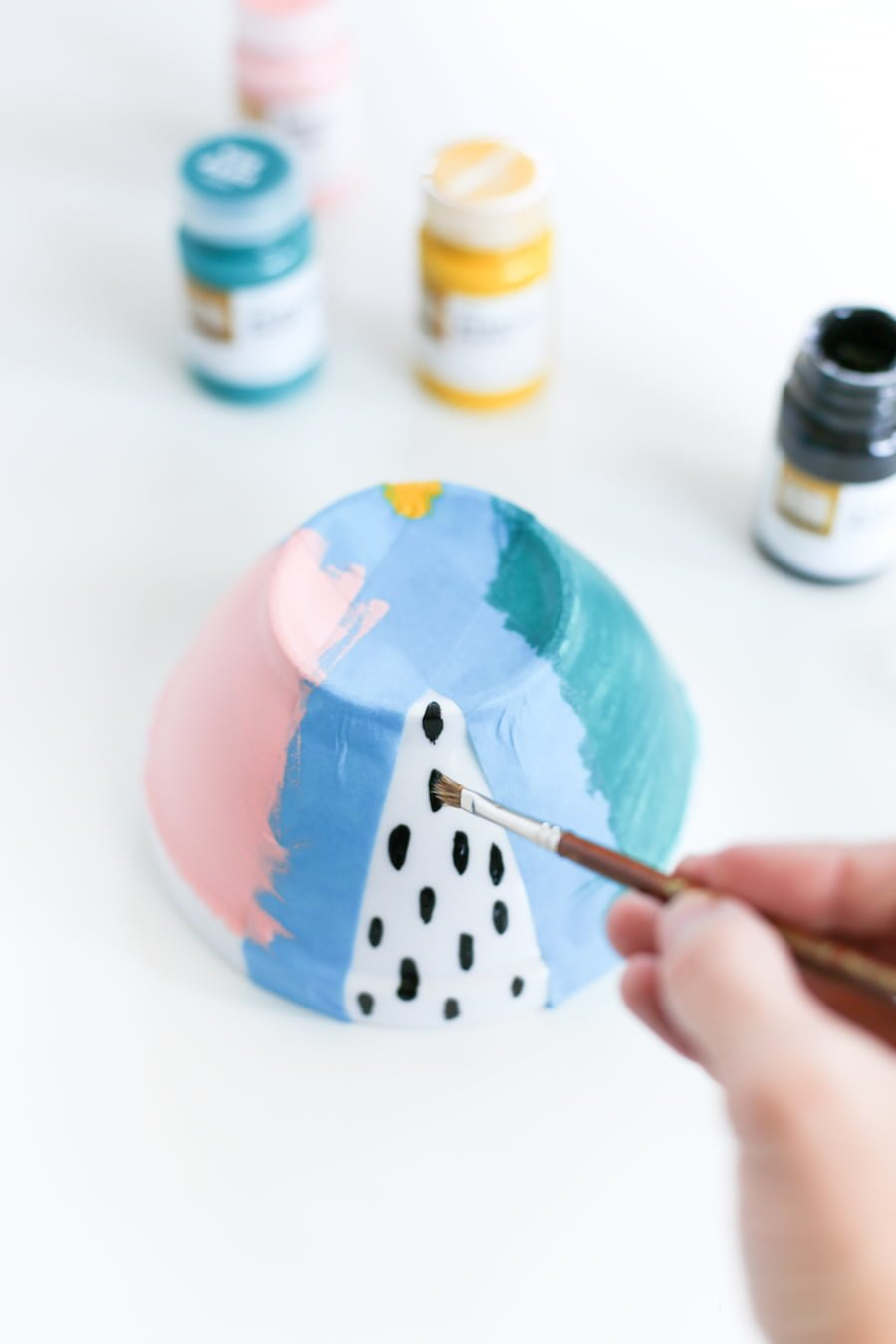 DIY Painted Ice Cream Bowls // Salty Canary