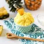 If you can't go to the islands on vacation, bring the islands to you with this DIY Piña Colada Sugar Scrub // saltycanary.com