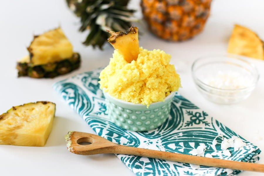 DIY Pina Colada Sugar Scrub // Salty Canary
