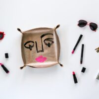 Too many things in your pockets or purse? Make a DIY Leather Catch-All and unload when you get home! // Salty Canary