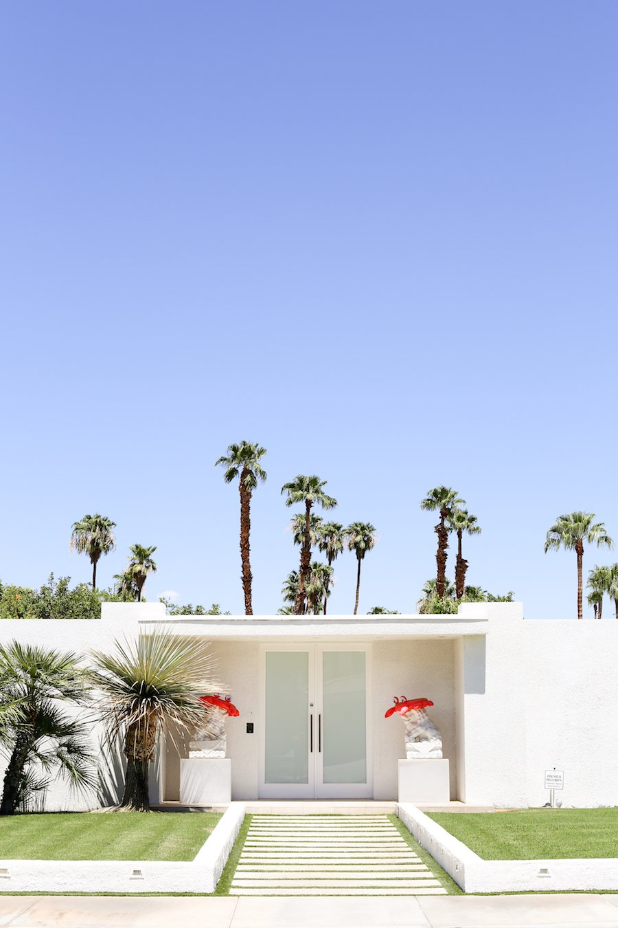 Take a Palm Springs Door Tour to see all the bright & colorful midcentury modern front doors, Instagram Photos, Insta-worthy, Driving Tour, Architecture Tour, Weekend Trip, Palm Springs Guide, Travel Guide, What to do in Palm Springs, Walking Door, Photo Tour, That Pink Door Address, Party Lions, Free Printable Map, Salty Canary