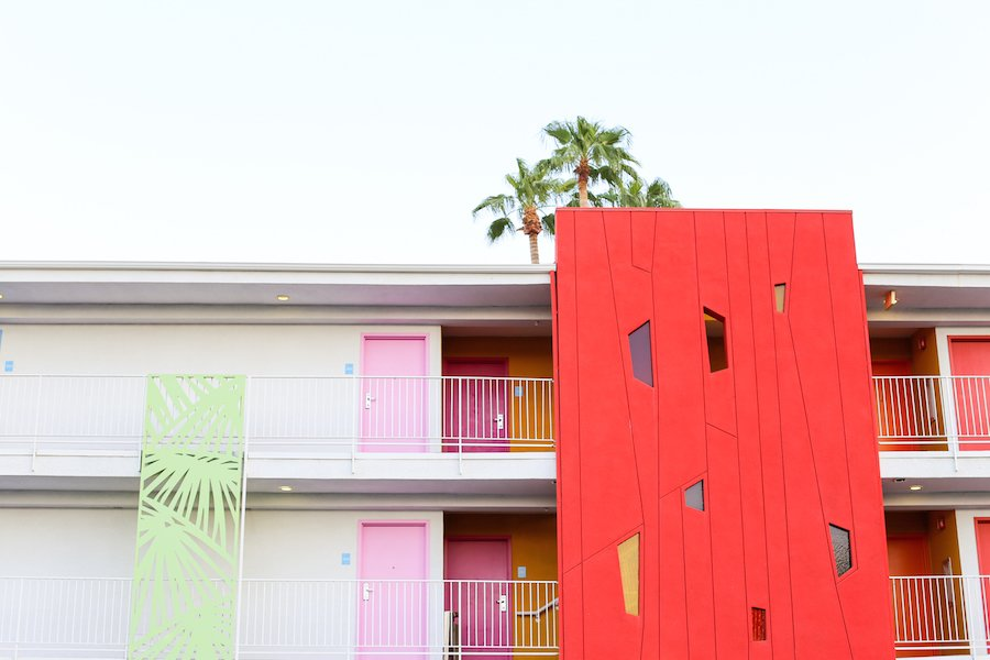 ... Take A Self Guided Palm Springs Door Tour To Check Out All The Bright U0026
