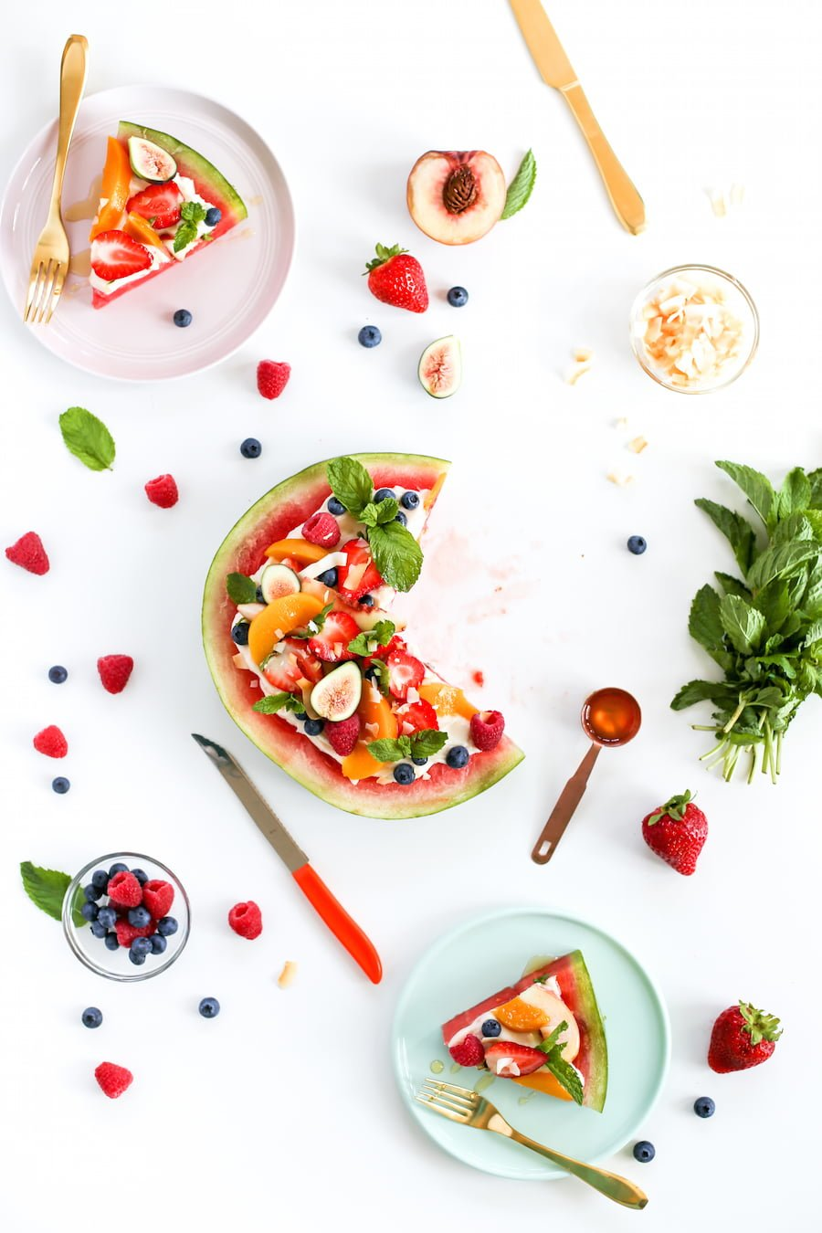 Watermelon Fruit Pizza Dessert // Salty Canary