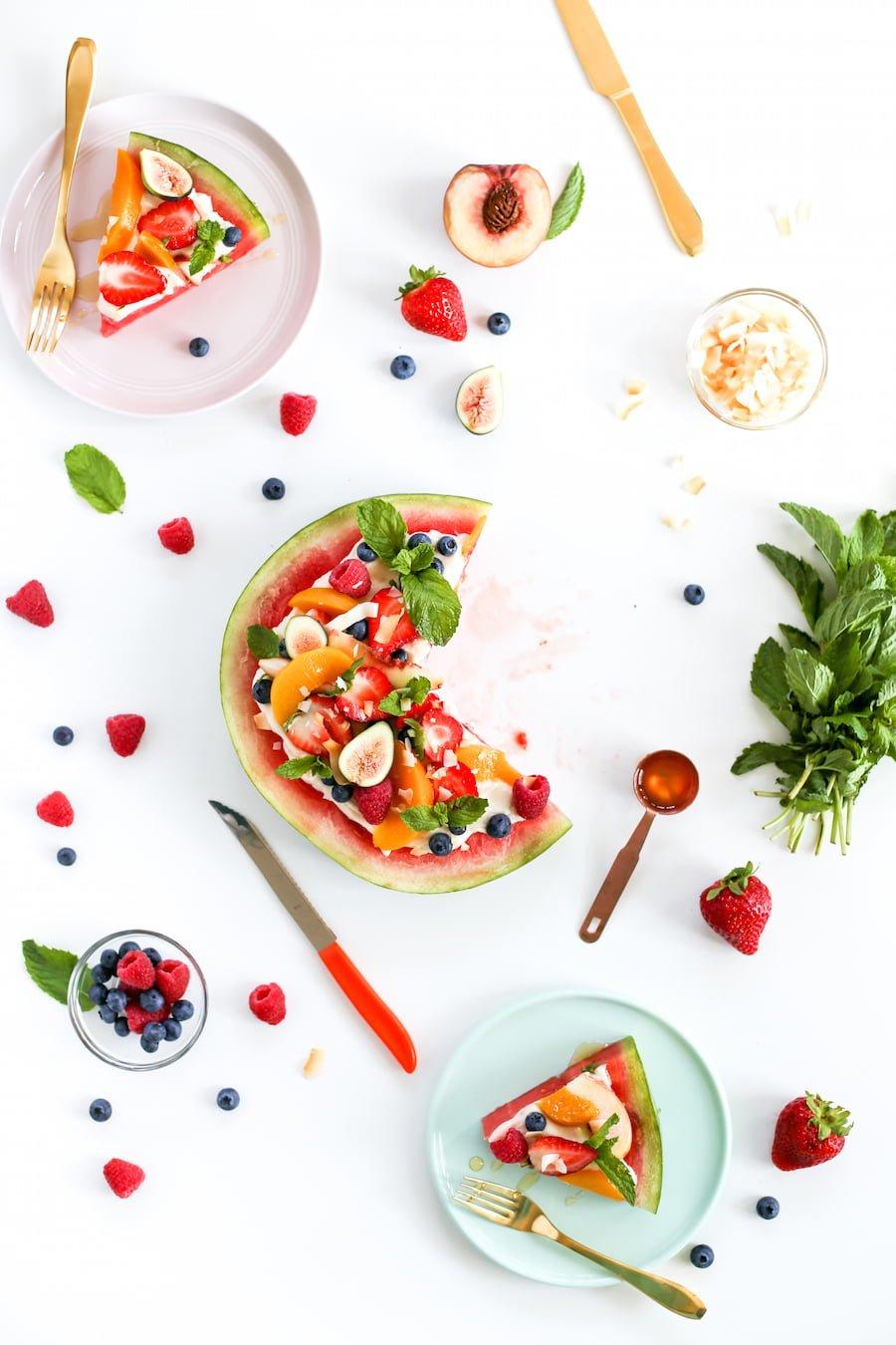Watermelon Fruit Pizza Dessert // Salty Canary