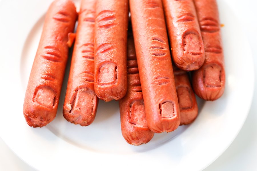 Halloween Bloody Severed Finger Hot Dogs //Salty Canary