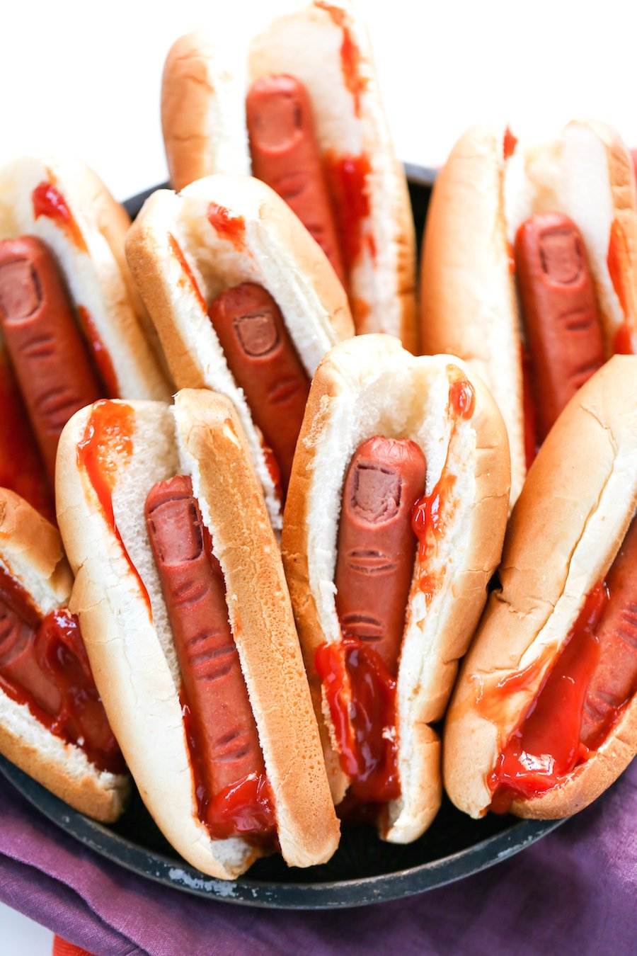 Halloween Bloody Severed Finger Hot Dogs, Gross Halloween Food, Finger Food, Halloween Party Food, Salty Canary