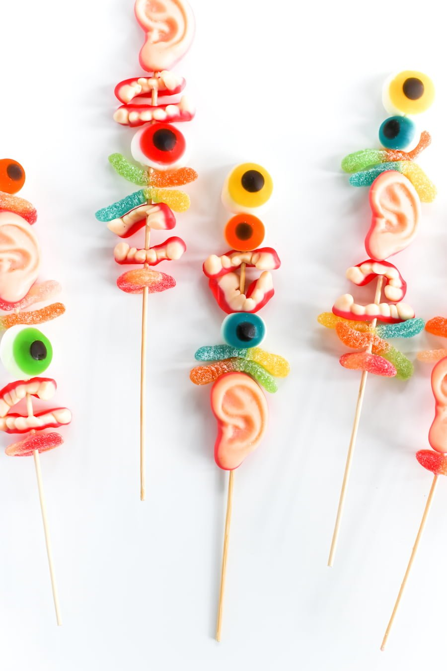 Halloween Monster Candy Kabobs or Swizzle Sticks // Salty Canary