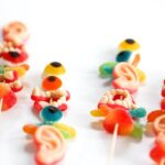 Halloween Monster Candy Kabobs or Swizzle Sticks