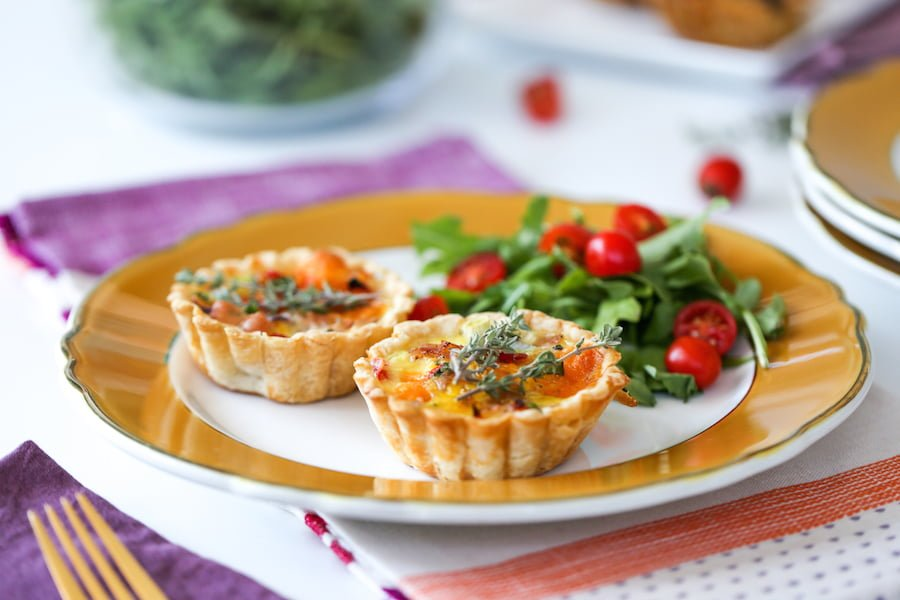 Mini Ham and Egg Quiches // Salty Canary