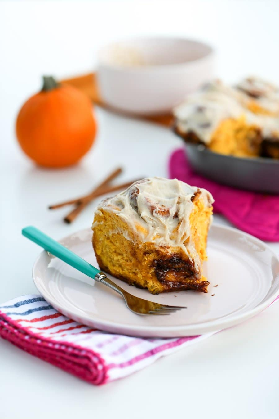 Pumpkin Spice Cinnamon Rolls // Salty Canary