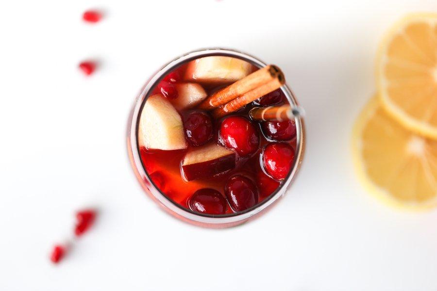 Cran-Apple Cider Sangria // Salty Canary