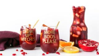 DIY Halloween Wine Glasses | More Boos Please // Salty Canary