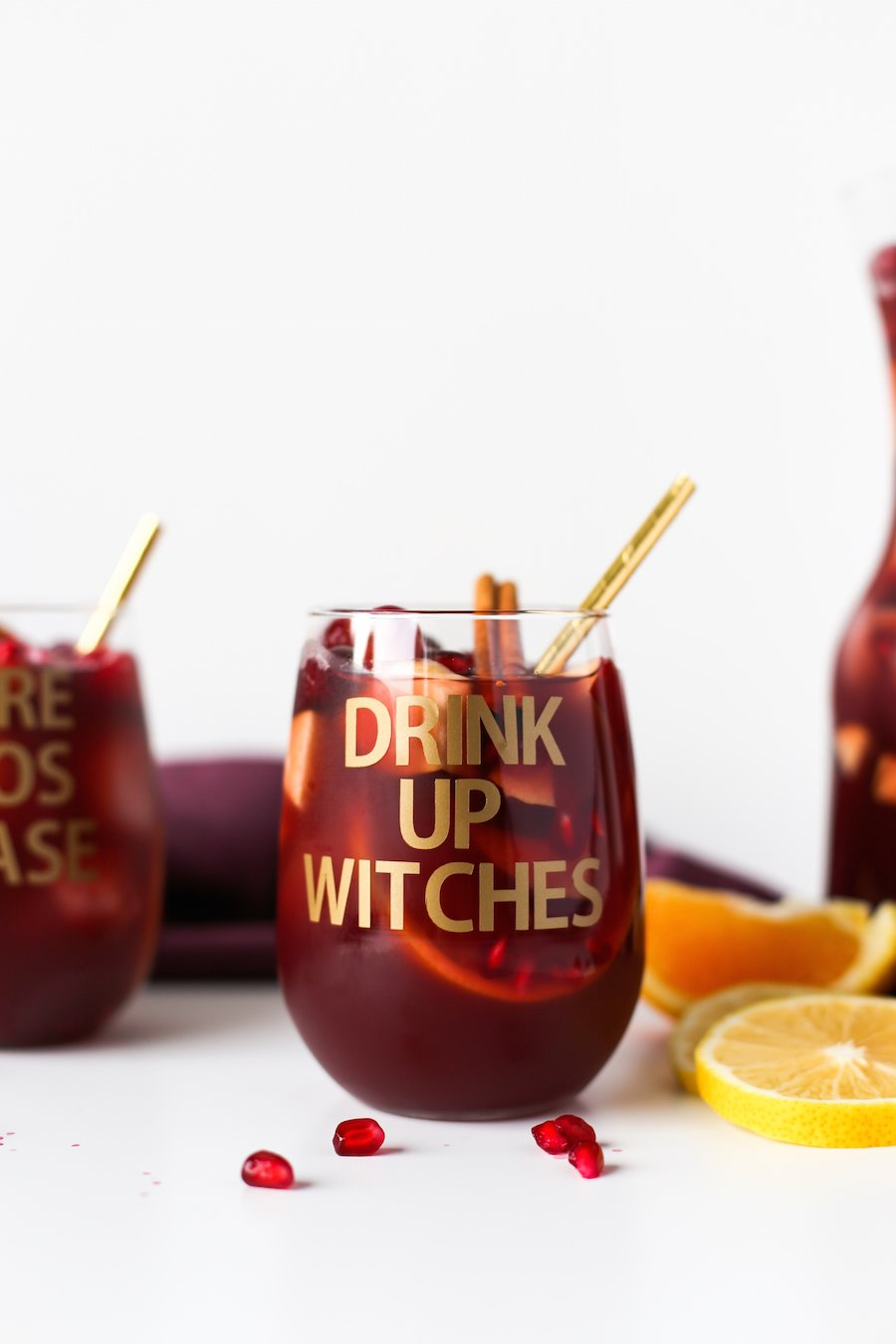 DIY Halloween Wine Glasses, More Boos Please, Drink Up Witches, Halloween Puns, DIY Halloween Party Decorations, Cricut DIY,  Salty Canary