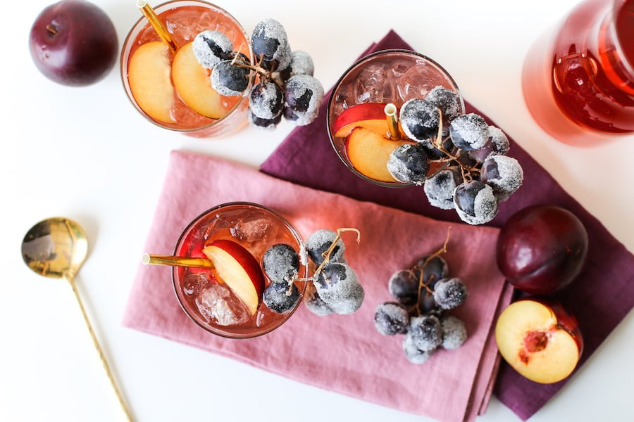 Fall and Winter Iced Teas and Punches for Food Network // Salty Canary