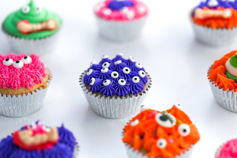 Silly Monster Halloween Cupcakes // Salty Canary