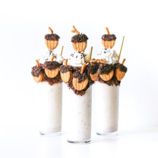 Boozy Bourbon Butter Pecan Thanksgiving Milkshake // Salty Canary