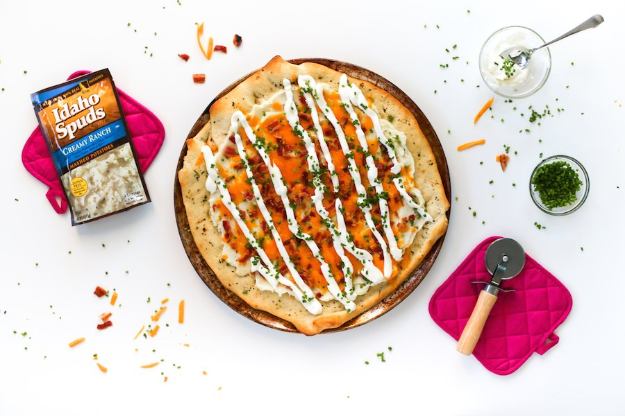 Fully Loaded Mashed Potato Pizza // Salty Canary