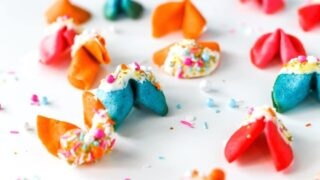 Colorful New Year's Eve Resolution (Fortune) Cookies // Salty Canary