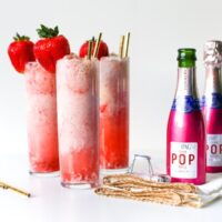 Strawberry Champagne Floats // Salty Canary