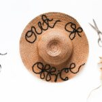 DIY Word Saying Sequined Beach Hat // Salty Canary