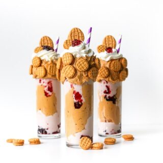 Nutter Butter and Jelly Cookie Milkshake // Salty Canary