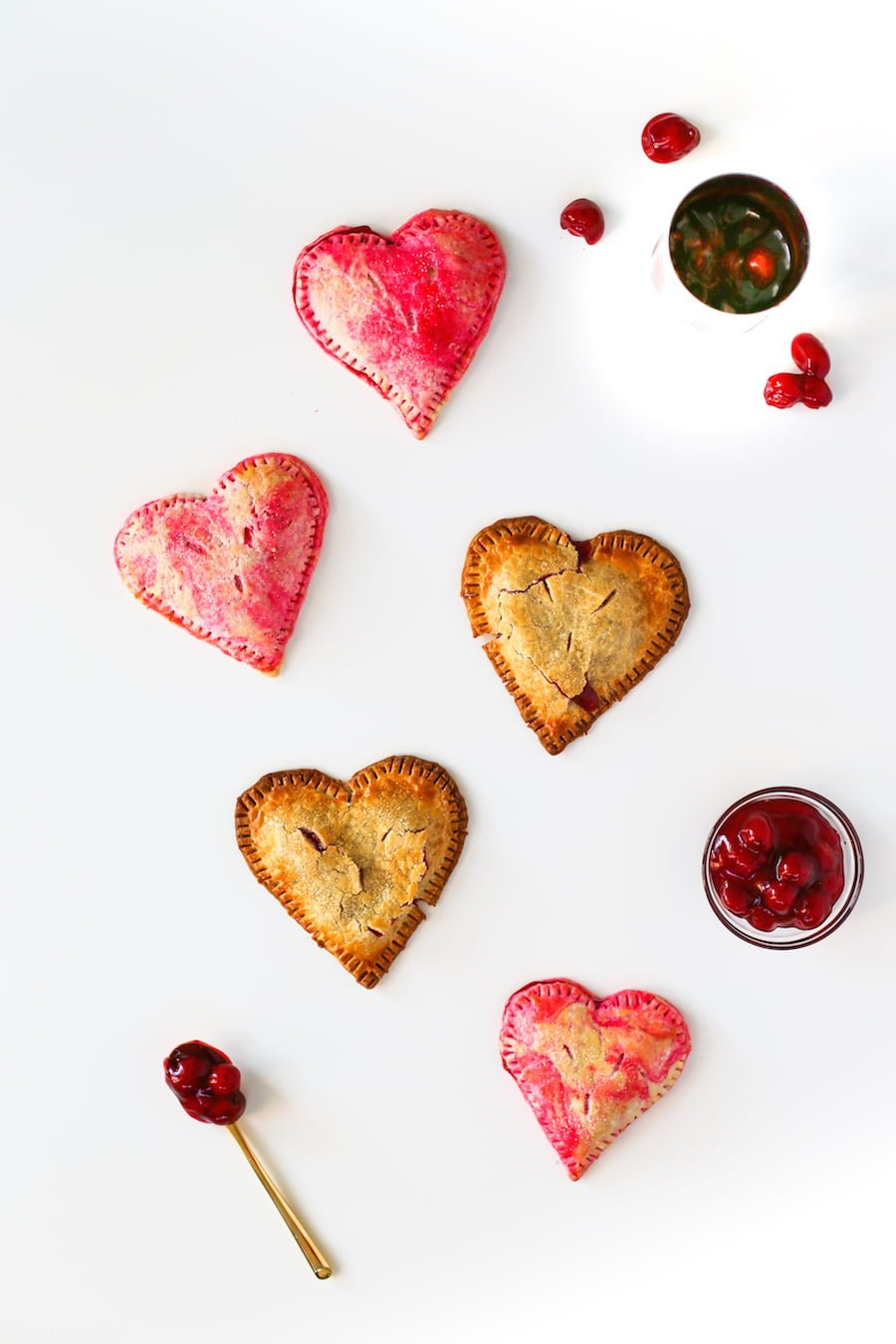 Heart Shaped Cherry Pies for Valentines Day // Salty Canary