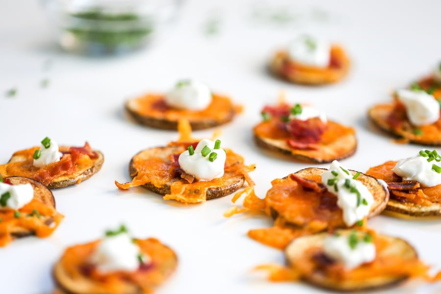 """Loaded Potato """"Chip"""" Rounds // Salty Canary"""