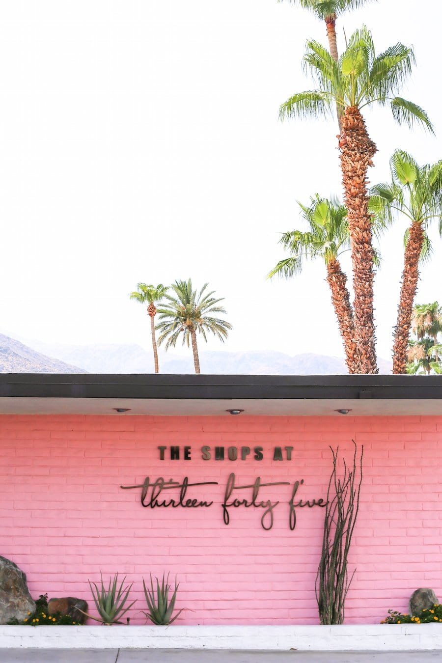 Ultimate Travel Guide to Palm Springs, Vacation and Trip Ideas, Palm Springs California, City Guide, Where to Stay in Palm Springs, What to Do, See and Eat in Palm Springs, Weekend Guide, Shops at Thirteen Forty Five, 1345, Pink Wall, Instagram Spots,