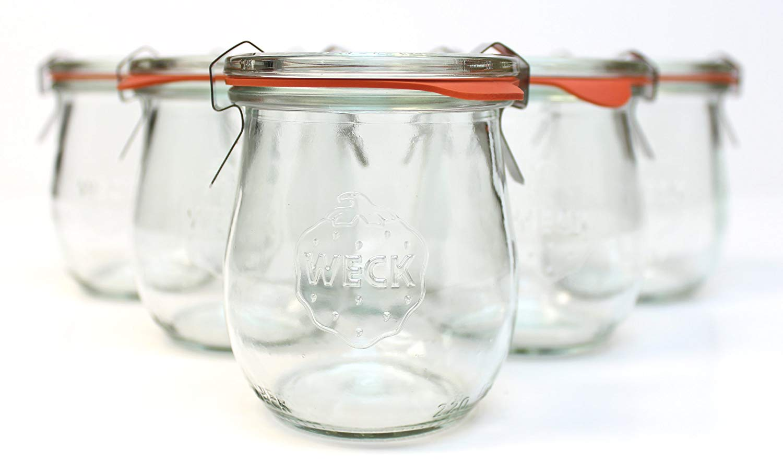 Mini Tulip Jelly Jar with Glass Lids